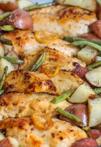 LEMON CHICKEN WITH VEGGIES RECIPE