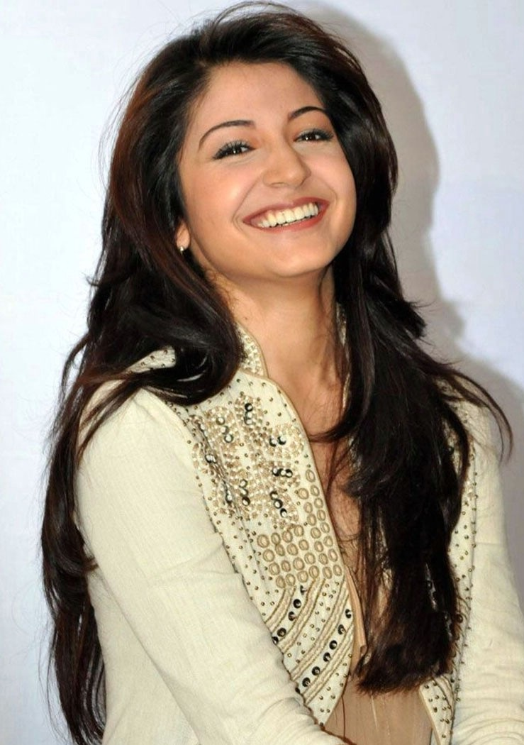 Bollywood Actress Anushka Sharma Hot Face Photoshoot In White Shirt