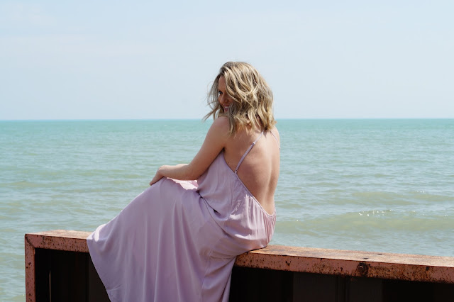 Tobi lavender maxi dress chicago blogger fashion