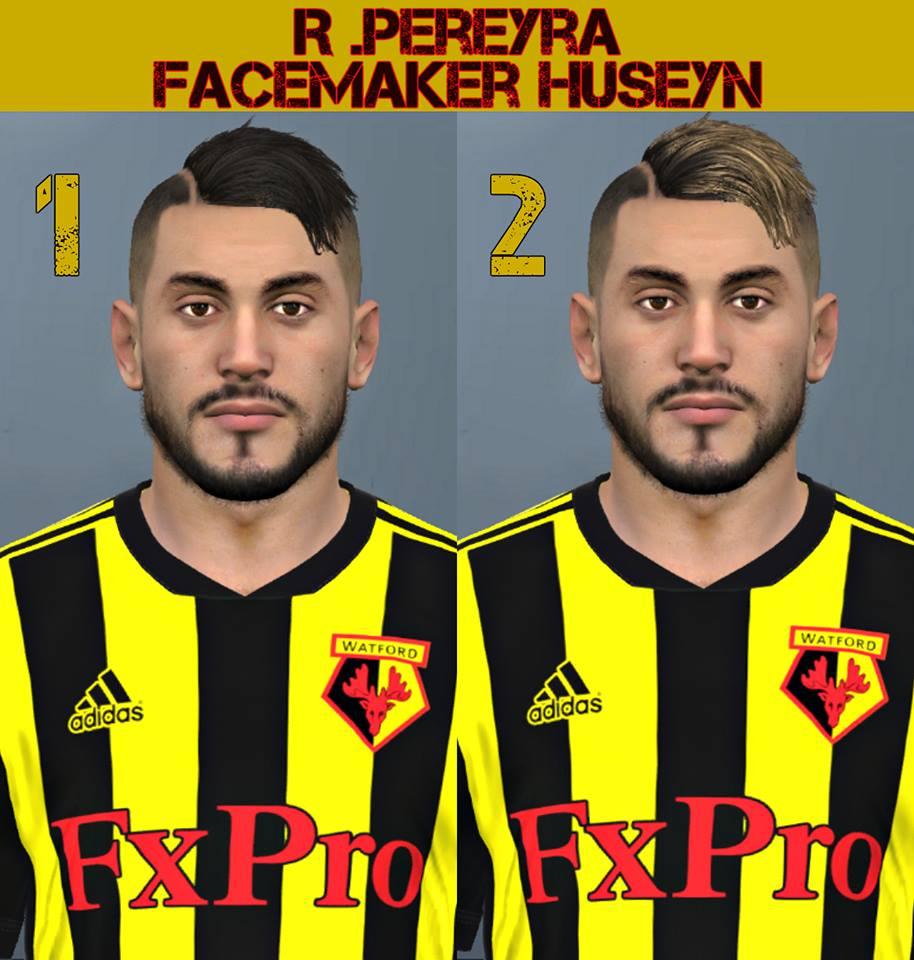 PES 2017 Roberto Pereyra (Watford) facepack by Facemaker Huseyn