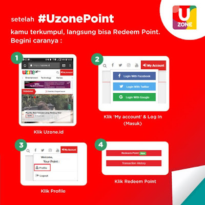 Cara Menukar Point di Uzone id