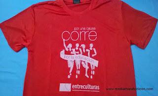 camiseta de carrera popular