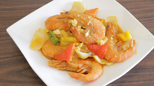Salted Egg with Prawn