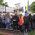 """Radnici PK """"Šikulje"""" protestvovali ispred Općine Lukavac (VIDEO)"""