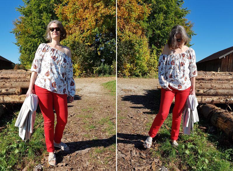 Meine Modeideen in herbstlichen Rottönen