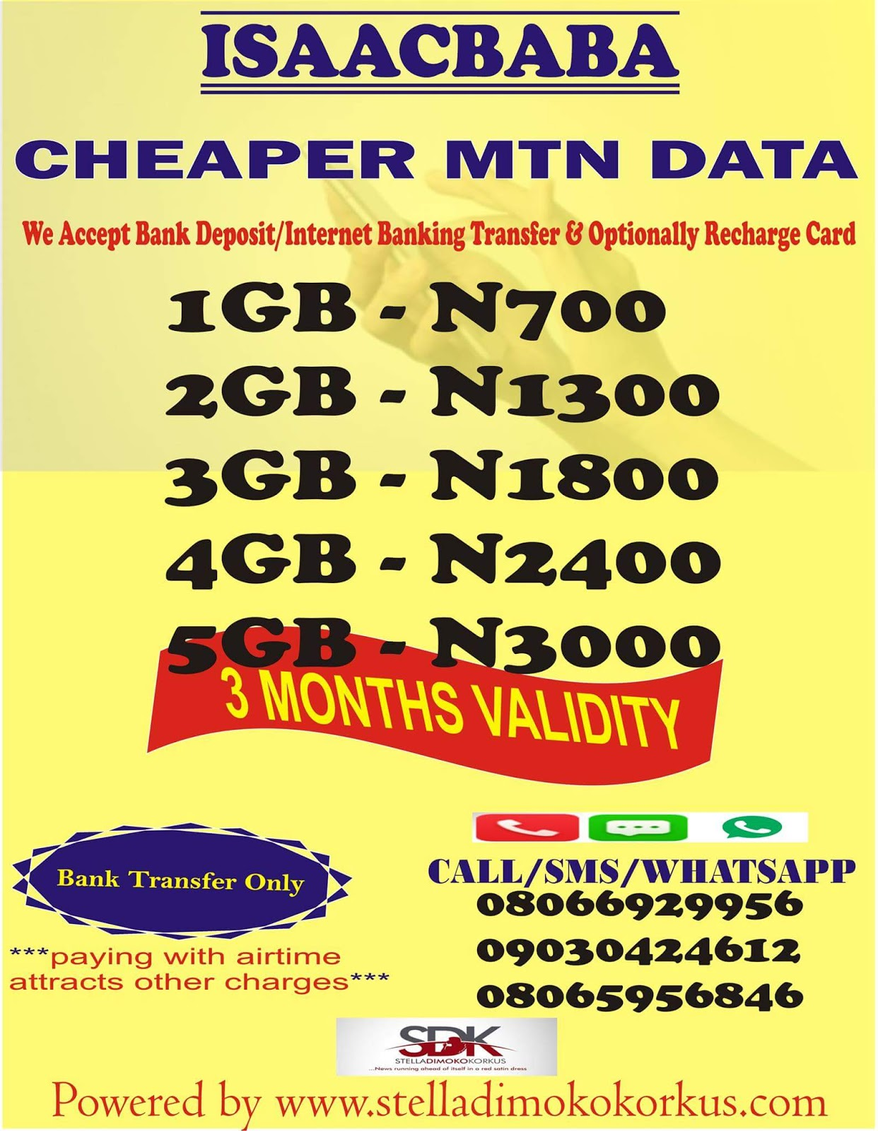 Stella Dimoko Korkus com: Cheaper Data Bundle Just For You