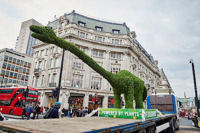 Florasaurus passing though oxford street London