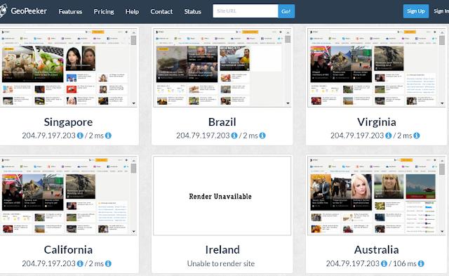 Ver página Web desde otros países