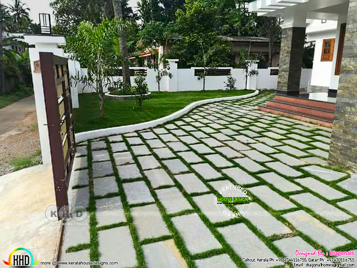 landscaping designs by diagonals kerala home design and