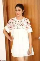 Lavanya Tripathi in Summer Style Spicy Short White Dress at her Interview  Exclusive 180.JPG