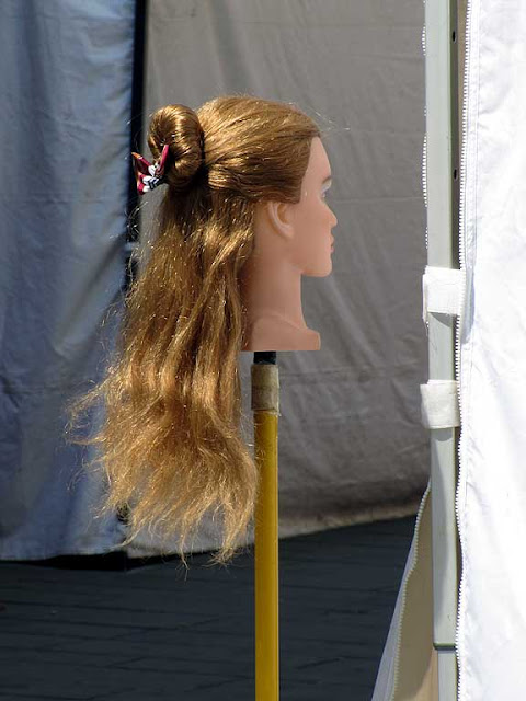 Head on a pole, hairdressing stand, Effetto Venezia, Livorno