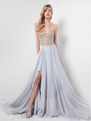 A-Linie trägerloser Ausschnitt Chiffon Abiballallkleid/Abendkleid