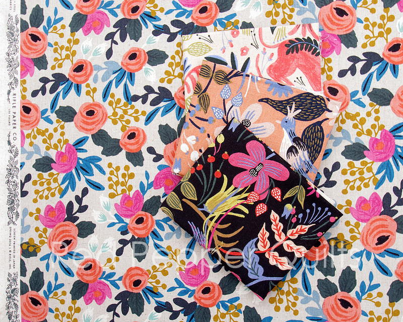 Les Fleurs by Rifle Paper Co. for Cotton + Steel - Canvas | © Red Pepper Quilts 2016