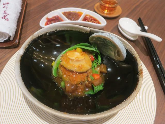 海参鲜鲍炆酿凉瓜