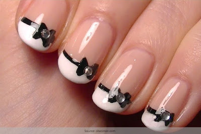 Stylish-and-Cute-Nail-Designs-with-Bows-and-Diamonds-for-Girls-8