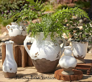 How to paint pottery barn inspired tuscan urns.