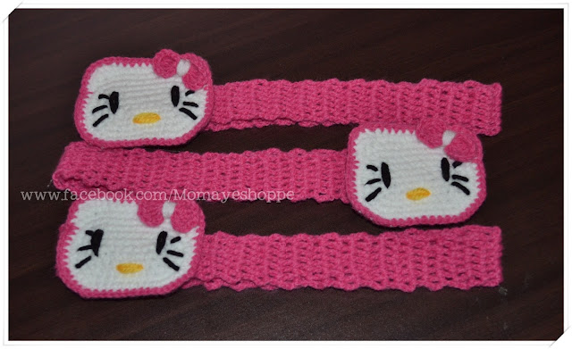 Crochet, Hello Kitty, Headband