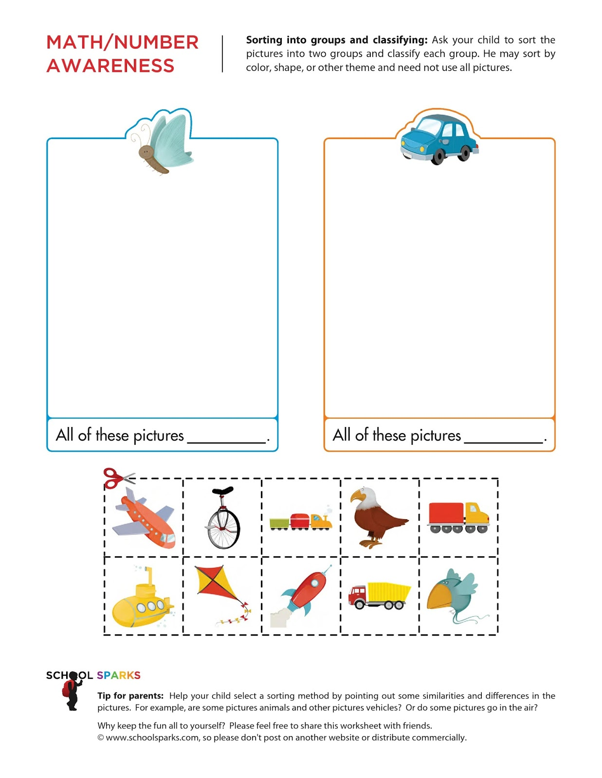 Grouping Worksheet Preschool