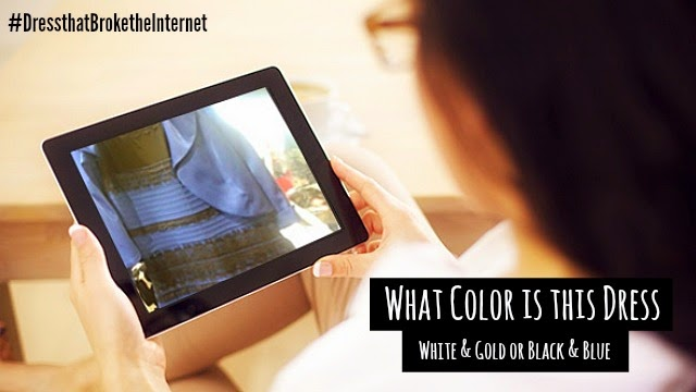 internet's burning question what color is this dress, white and gold or black and blue find out with science via geniushowto.blogspot.com dress that broke the internet