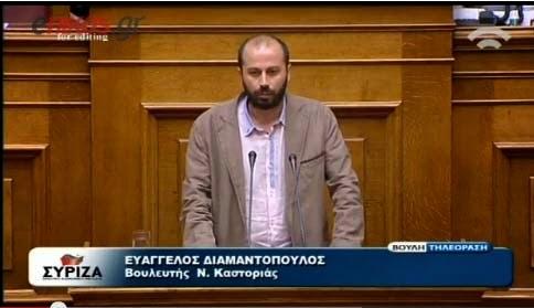Ερώτηση του Β.Διαμαντόπουλου προς το ΥΠΕΚΑ σχετικά με την μόλυνση του υδατορέματος «Γκιόλε»