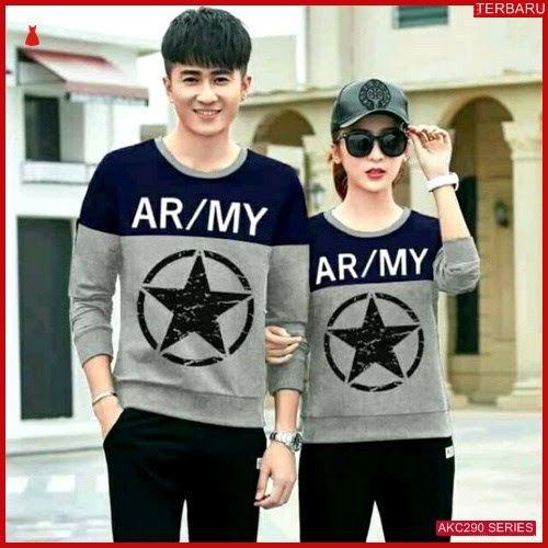 AKC290S46 Sweater Couple Army Anak 290S46 Pasangan Star BMGShop