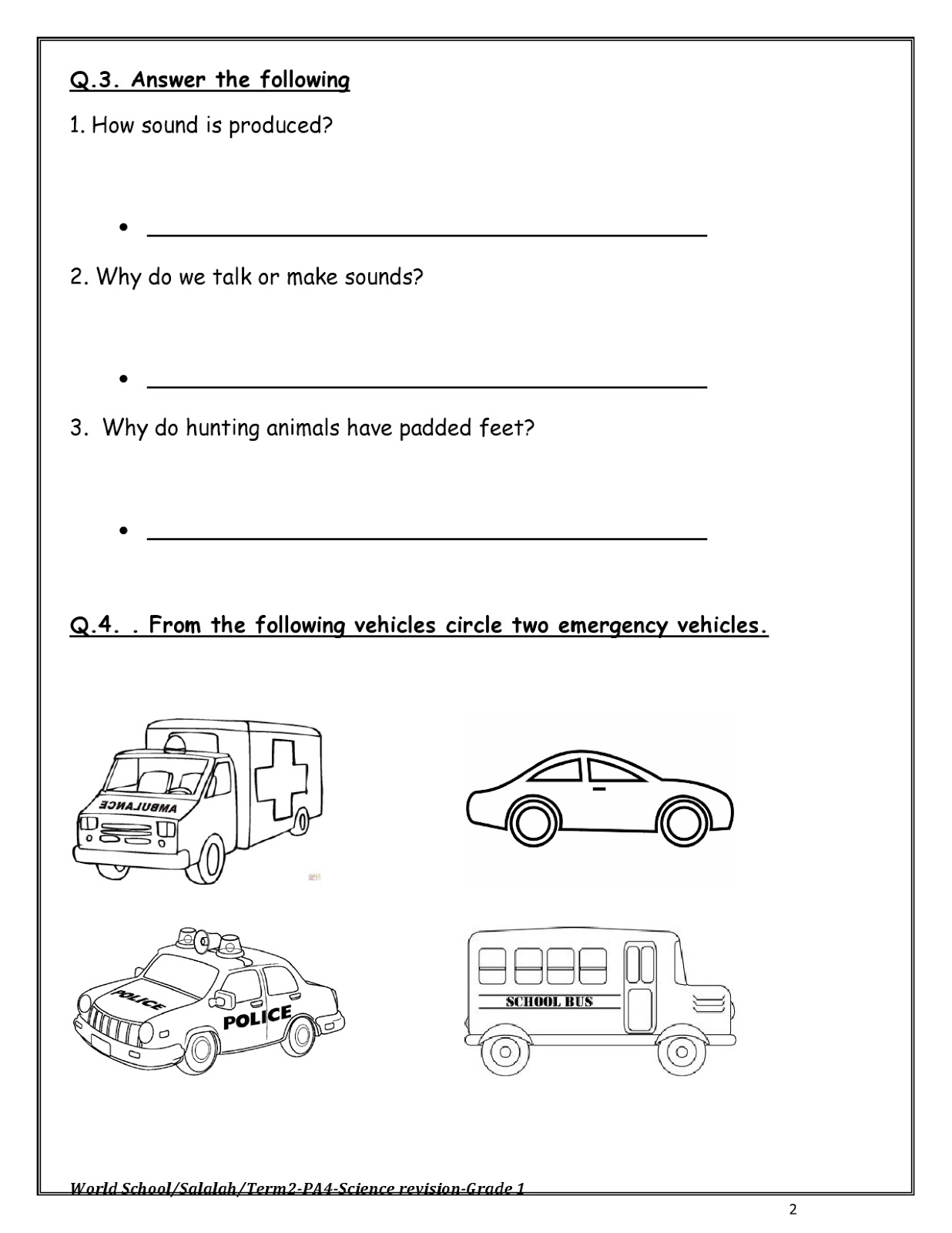 Birla World School Oman Homework For Grade 1 As On 11 04