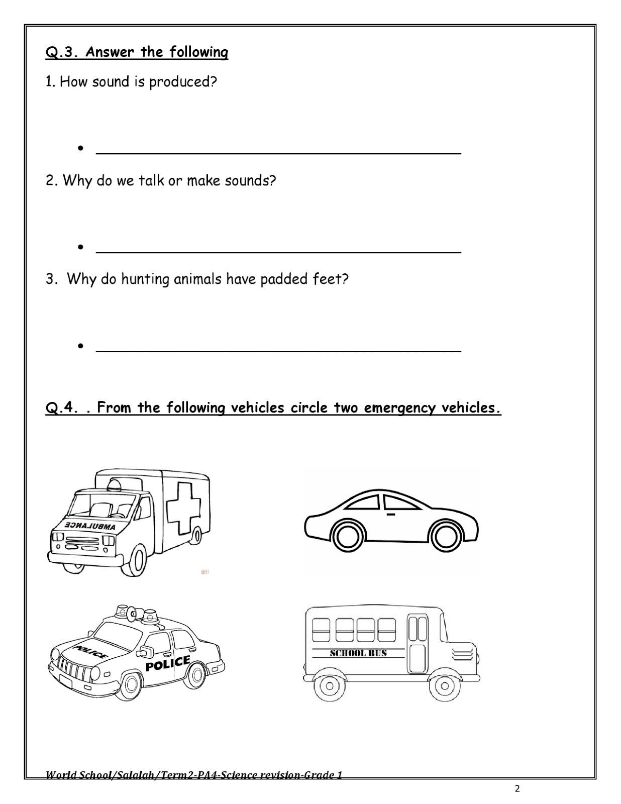 Birla World School Oman Homework For Grade 1 As On 11 04
