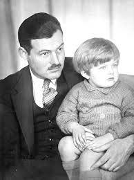 "Hemingway with his Son John Hadley Nicanor ""Jack"" Hemingway"