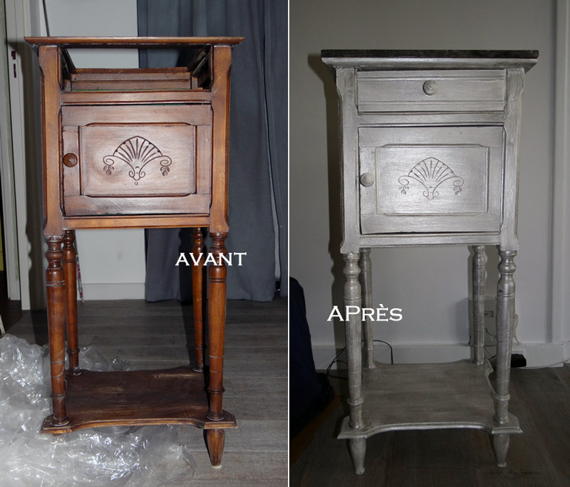 la tribu de d d e r novation d 39 une table de chevet. Black Bedroom Furniture Sets. Home Design Ideas