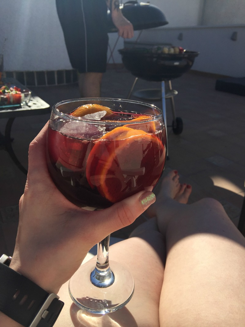 Sangria in the sunshine