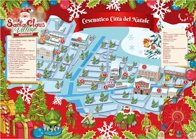 Mappa Santa Claus Village di Cesenatico