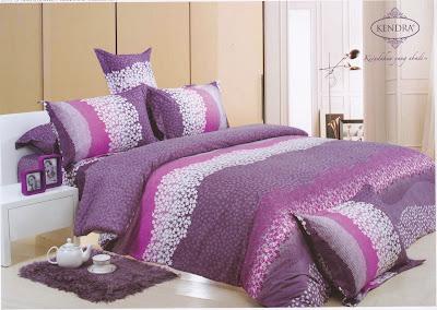Sprei Kendra Signature Lili Lavender Ko Line Bed Cover Murah