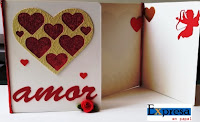 tarjeta de san valentin hecha a mano,corazon