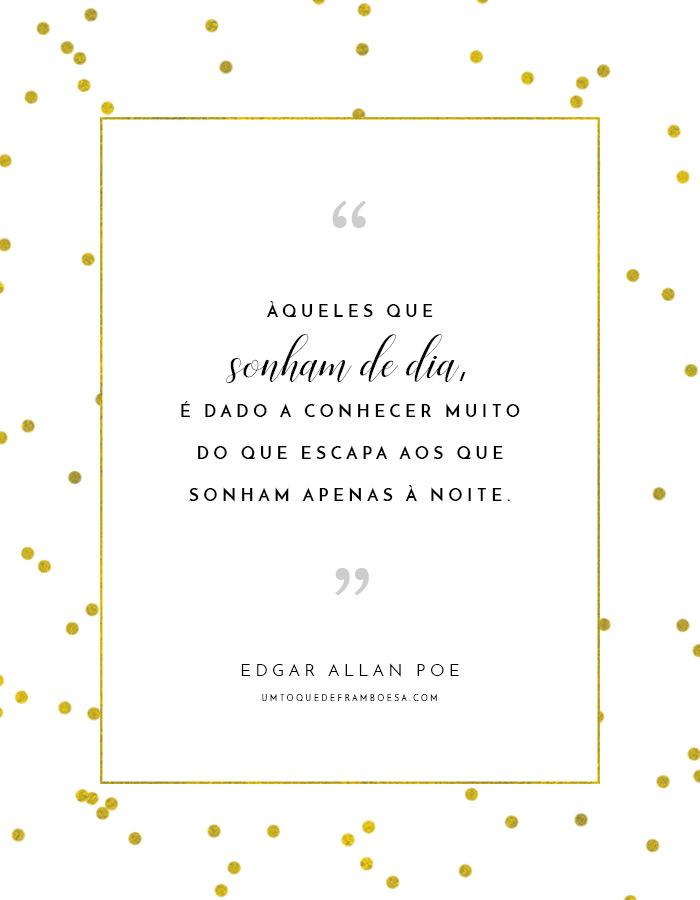Frase do livro Edgar Allan Poe, extraída do conto Eleonora
