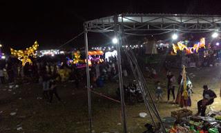 Lapangan Tumapel pusat acara Singosari Lampion Festival 2018