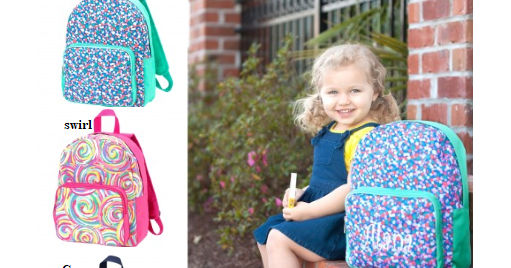 Monogrammed Backpacks and Lunch Totes are IN!