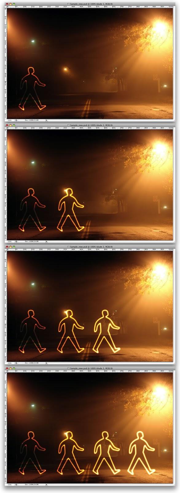 Efek Cahaya Lukisan Glowing