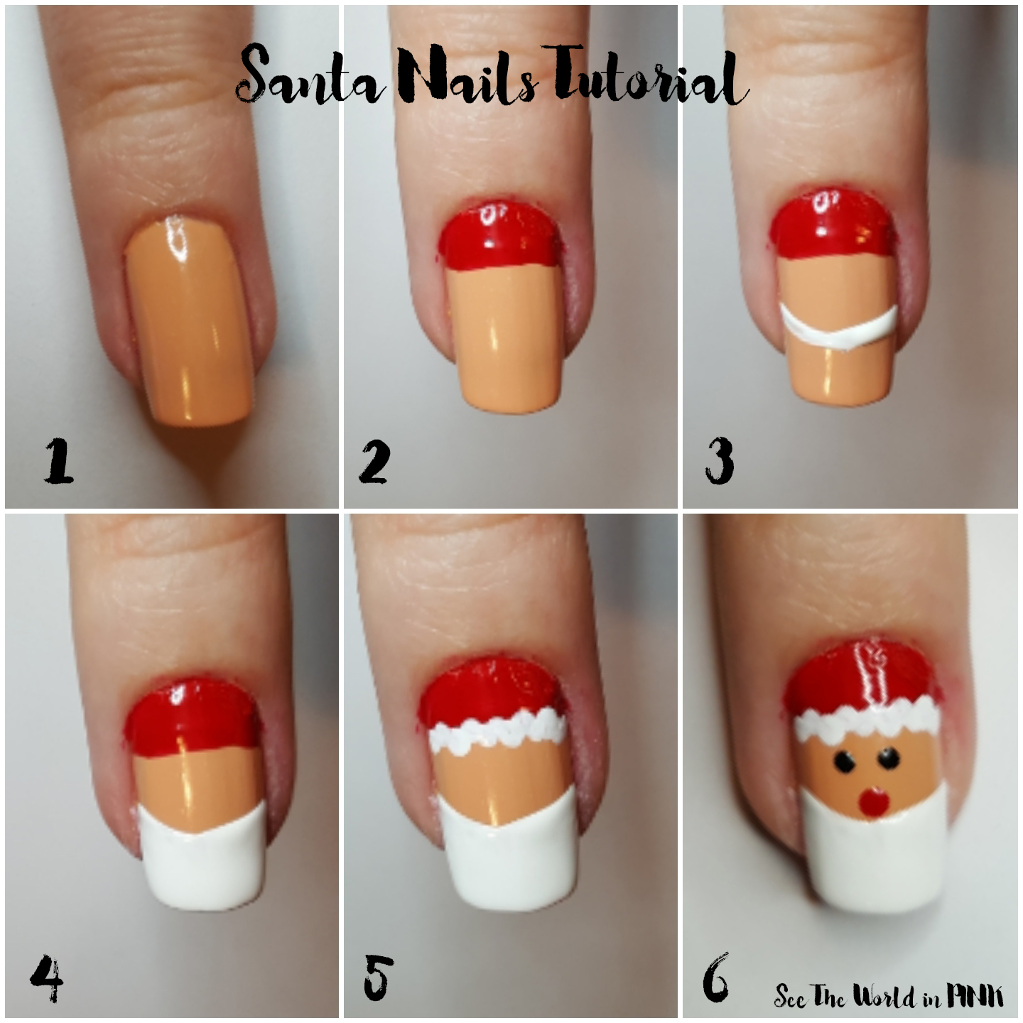 Manicure Tuesday - Santa Nail Art Tutorial