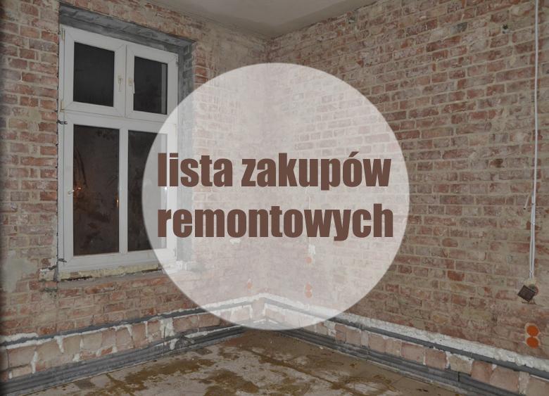 Lista zakupów przy remoncie mieszkania, domu.