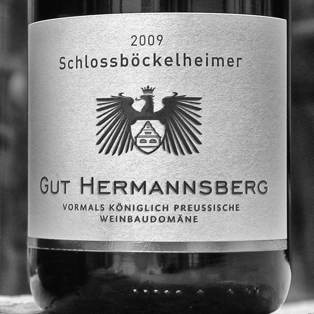 Etikett eines Ortsweines des Gutes Hermannsberg in Niederhausen an der Nahe