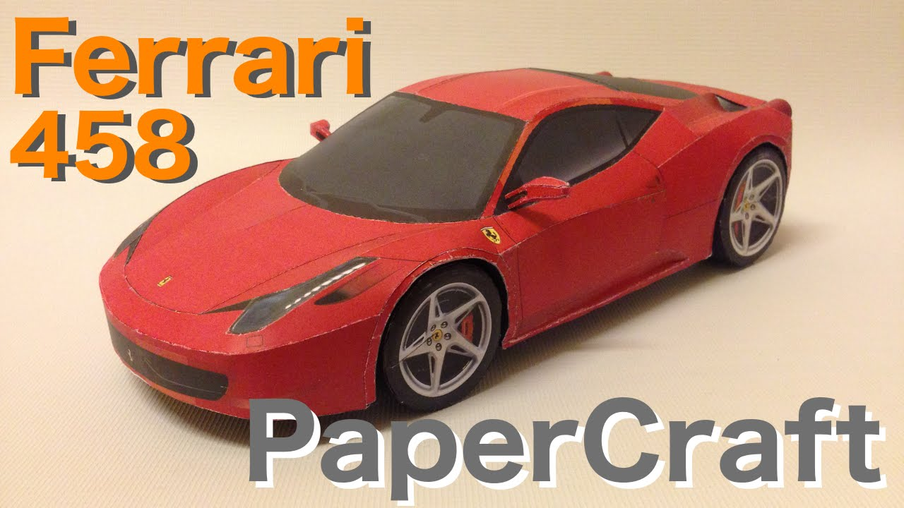Ferrari 458 Italia Paper Car Download