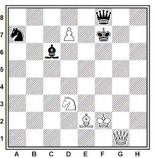 Estudio artístico de ajedrez compuesto por Aleksandr Seletsky (1º Premio, Shakhmaty v SSSR, 1933)