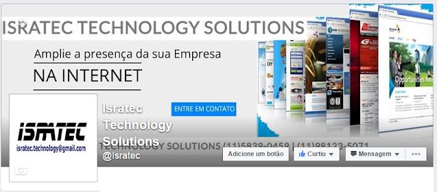 Uma Página no Facebook sobre serviços prestados em tecnologia
