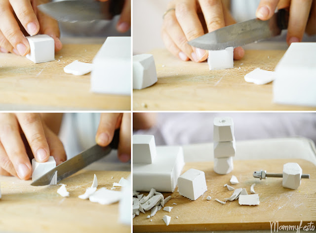 Step by step clay gems' construction