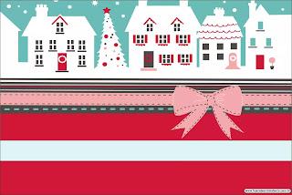 Navidad Retro: Invitaciones o Tarjetas para Descargar Gratis.