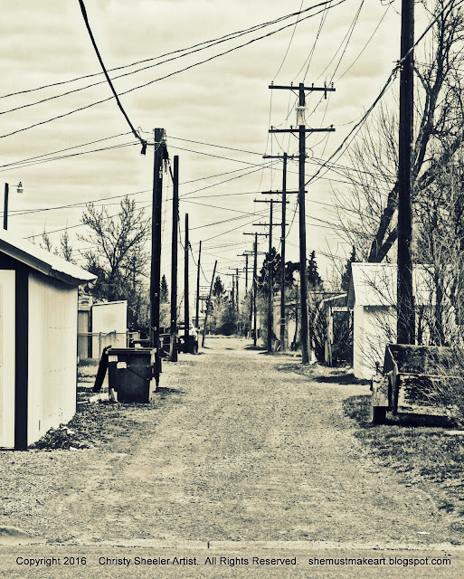 photo of alley early spring black and white photo by christy sheeler 2016