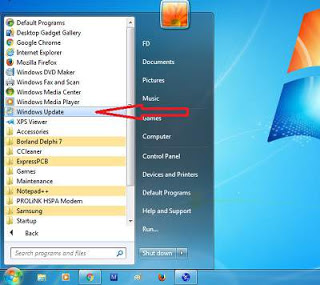 Cara menonaktifkan automatic update di windows 7