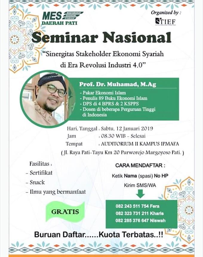 Seminar Ekonomi Syariah Bersama Prof. Muhammad