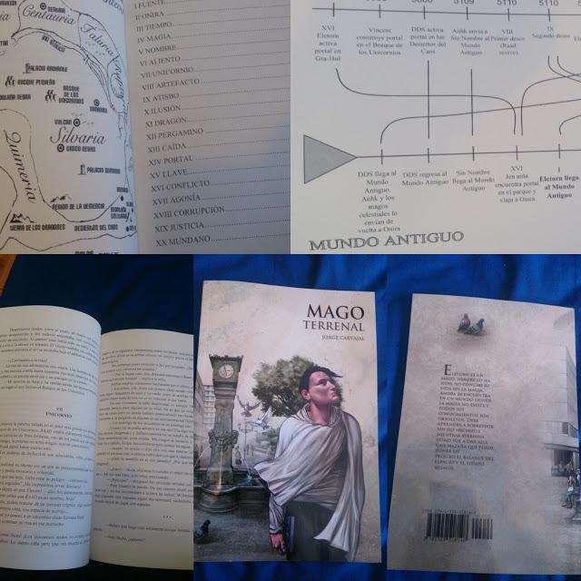 Libro físico Mago terrenal, de Jorge Carvajal - Cine de Escritor