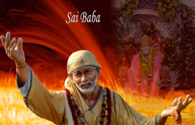 Beautifull Lord Sai Baba  Wallpaper